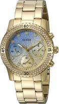 GUESS GUESS? Women's U0774L2 -Tone Watch with Iconic Sky Blue Multi-Function Dial