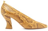 Bottega Veneta High-cut Spool-heel Python Pumps - Womens - Python