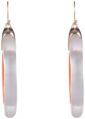 Alexis Bittar Neon Capsule Oval Hoop Drop Earrings