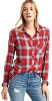 Gap Soft flannel plaid shirt