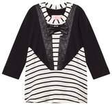 BANG BANG Copenhagen Black and White Tuxedo Nelly Stripe Dress