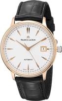 Maurice Lacroix Men's LC6037-PG101-130 Les Classiques Analog Display Swiss Automatic Black Watch