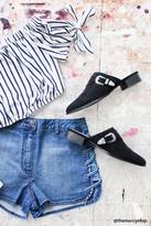 Forever 21 FOREVER 21+ Faux Suede Buckled Mules