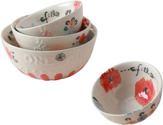 Anthropologie Daily Bake 4-Piece Stoneware Measuring Cup Set