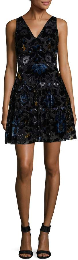 Anna Sui Women's Velvet print Fit-and-Flare Dress