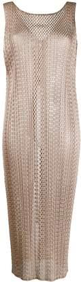 Pleats Please Issey Miyake woven tunic top