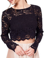 Miss Selfridge Cropped Lace Top