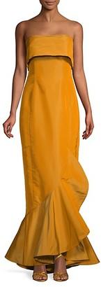 Oscar de la Renta Silk Strapless Mermaid Gown