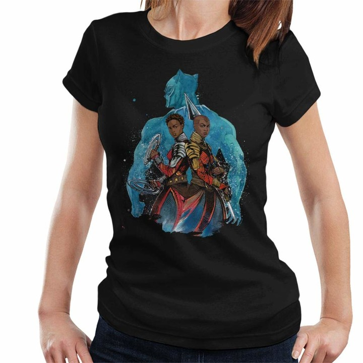 Thumbnail for your product : Marvel Black Panther Okoye and Nakia Comic Montage Women's T-Shirt