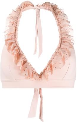 Fisico Ruffle Trim Bikini Top