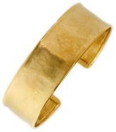 Ice Hammered 14K Gold Cuff Bracelet