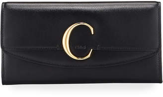 Chloé C Long Smooth Wallet With Flap