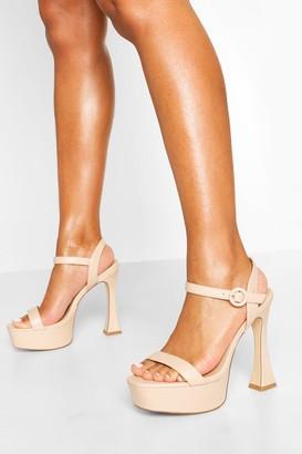 boohoo Platform Peepoe Stiletto Heels