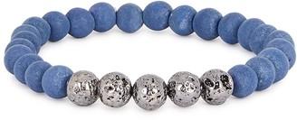 Tateossian Blue large lava bead bracelet
