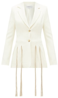 Gabriela Hearst Maurize Single-breasted Wool-crepe Jacket - Ivory