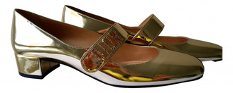 Christian Dior Baby-D Gold Patent leather Ballet flats