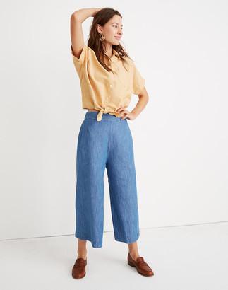 Madewell Tall Chambray Huston Pull-On Crop Pants