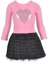 "Kensie Little Girls' ""Sequin Heart"" Dress"