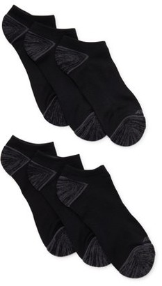 Avia Womens 6 Pack Pro Tech Zone Cushion No Show Socks