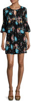 Arizona Bell-Sleeve Floral Dress- Juniors
