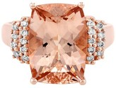 Effy Jewelry Effy Blush 14K Rose Gold Morganite and Diamond Ring, 6.33 TCW