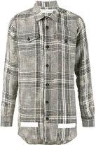 Off-White checked shirt - men - Linen/Flax - XS