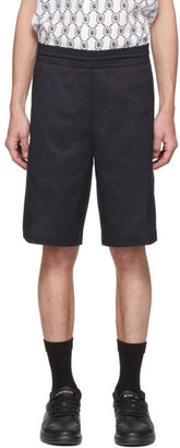 Neil Barrett Navy Bermuda Basketball Shorts