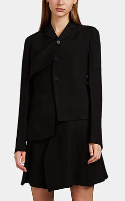 Jil Sander Women's Gentry Asymmetric Two-Button Blazer - Black