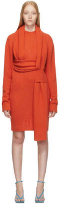 Bottega Veneta Orange Look 5 Wool Sweater Dress