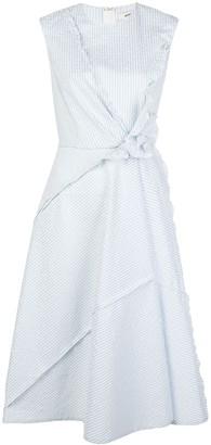 Jason Wu Asymmetric Striped Dress