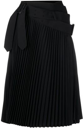 Junya Watanabe Asymmetric Pleated Skirt