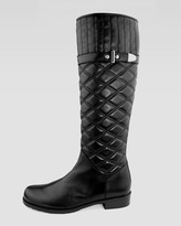 Stuart Weitzman Copliot Quilted Leather Boot