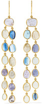 Pippa Small 18-karat Gold Multi-stone Earrings - one size