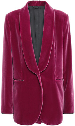 Brunello Cucinelli Bead-embellished Cotton-velvet Blazer