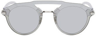 Christian Dior Grey DiorFuturistic Round Sunglasses