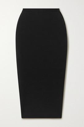 Rick Owens Pillar Stretch Cotton-blend Cloque Midi Skirt - Black