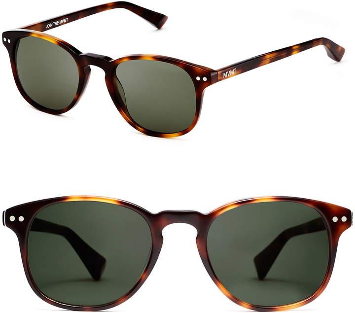 MVMT Hyde 57mm Polarized Round Sunglasses