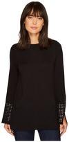 Nic+Zoe Grommet Cuff Top Women's Clothing