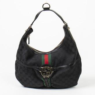 Gucci Hobo Black Cotton Handbags