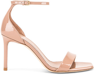 Saint Laurent Amber Ankle Strap Sandals in Nude Rose | FWRD