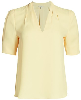 Joie Ance Silk Puff-Sleeve Blouse