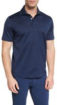 Ermenegildo Zegna Blocked-Stripe Short-Sleeve Polo Shirt, Navy