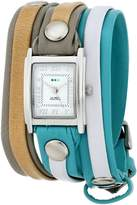 La Mer Women's LMLWMIX1004 Windward Mix-Up Layer Wrap Watch