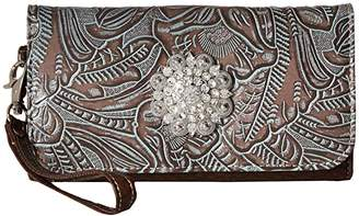 M&F Western Myra Wallet (Brown) Wallet Handbags