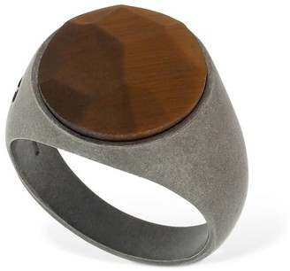 Marco Dal Maso Tiger Eye Stone Thick Pinky Ring