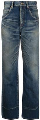 Saint Laurent Faded High-Rise Jeans
