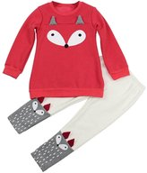 Nicerokaka Baby Long-Sleeved Sweatershirt Top Pants Set