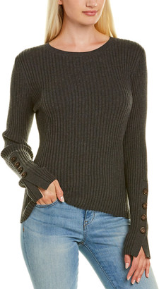 Autumn Cashmere Cotton By Button Cuff Sweater
