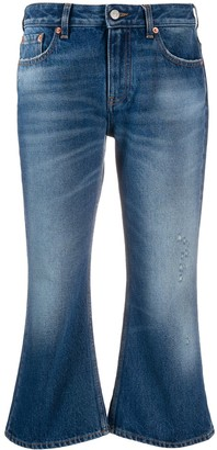 MM6 MAISON MARGIELA Cropped Flared Jeans