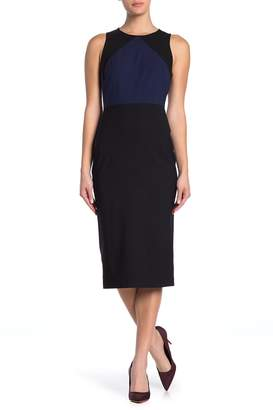 Diane von Furstenberg Wool Blend Midi Sheath Dress